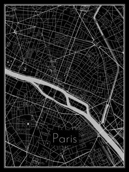 Illustration Map of Paris