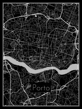 Illustration Map of Porto