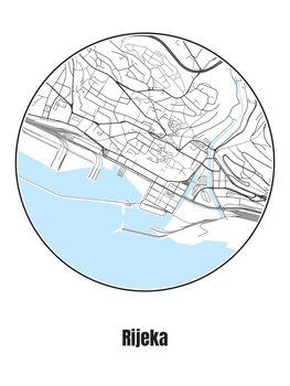 Illustration Map of Rijeka