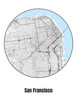 Illustration Map of San Francisco