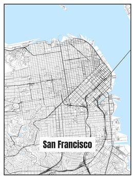 Illustration Map of San Francisco
