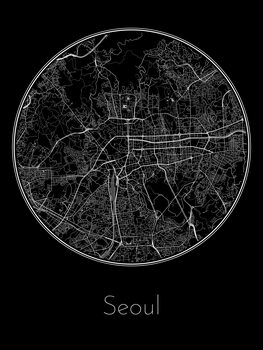 Illustration Map of Seoul