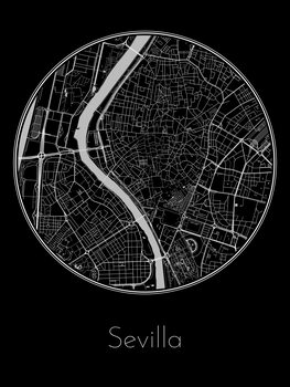 Illustration Map of Sevilla