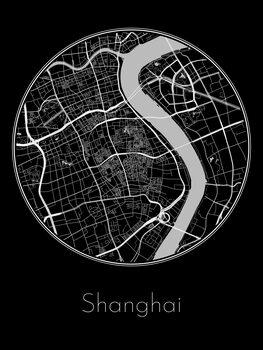 Illustration Map of Shanghai