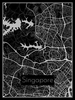 Illustration Map of Singapore