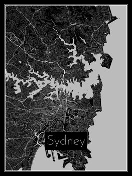 Illustration Map of Sydney