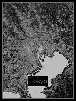 Illustration Map of Tokyo
