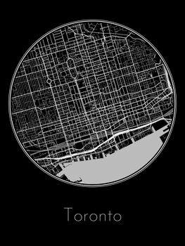 Illustration Map of Toronto