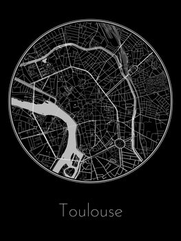 Illustration Map of Toulouse