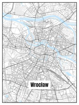 Illustration Map of Wrocław