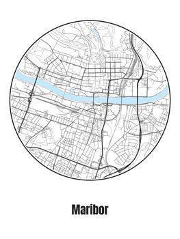 Map of Maribor