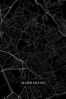 Map Marrakech black