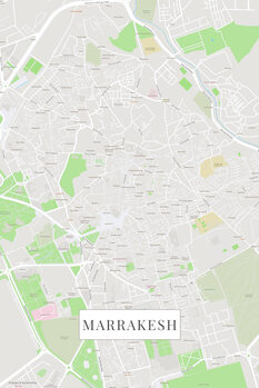Map Marrakech color