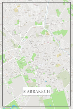 Map of Marrakech color