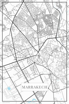Map of Marrakech white