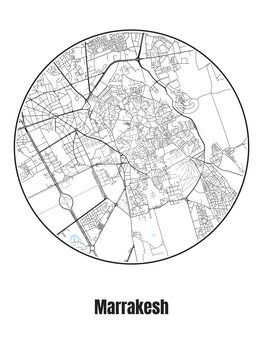 Map of Marrakesh