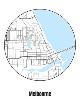 Map of Melbourne