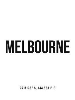 Illustration Melbourne simple coordinates