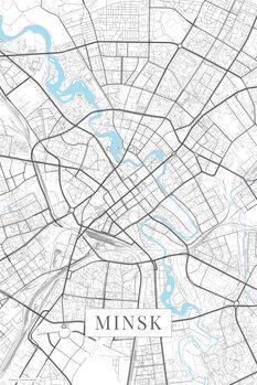 Map of Minsk white