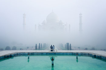 Art Print on Demand Misty Taj Mahal