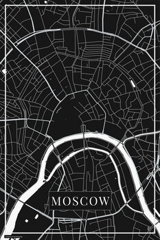 Map of Moscow black