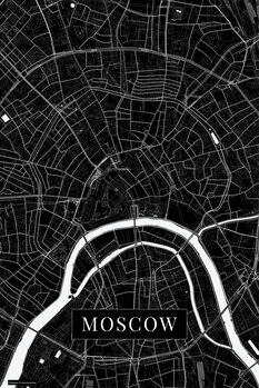 Map Moscow black