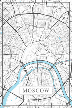 Map of Moscow white