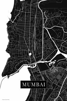 Map of Mumbai black