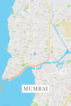 Map of Mumbai color