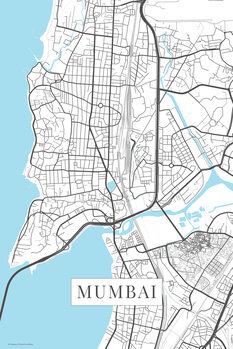 Map of Mumbai white