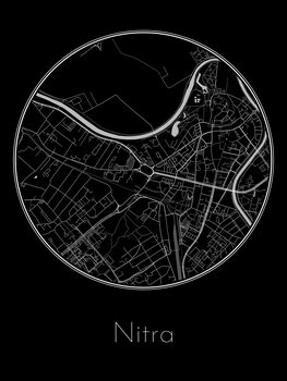 Map of Nitra