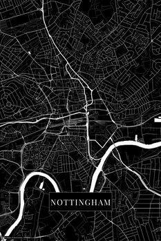 Map Nottingham black
