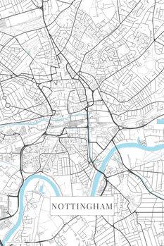 Map Nottingham white