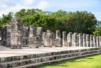 Art Print on Demand One Thousand Mayan Columns