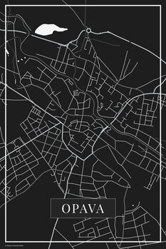 Map of Opava black