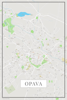 Map of Opava color