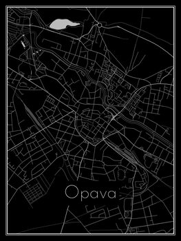 Map of Opava