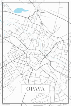 Map of Opava white