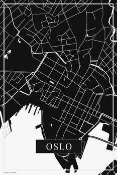 Map of Oslo black