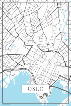 Map of Oslo white