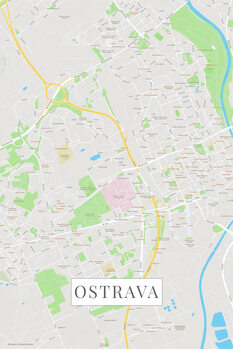 Map of Ostrava color