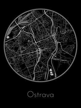 Map of Ostrava
