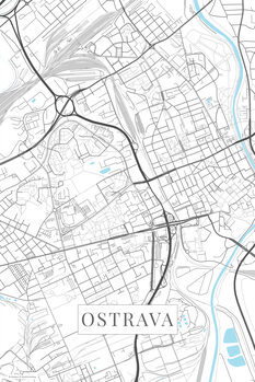 Map of Ostrava white
