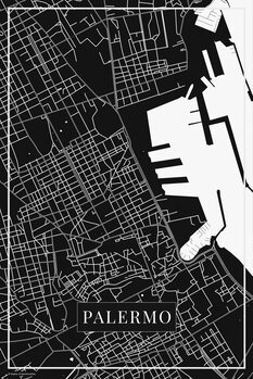 Map of Palermo black