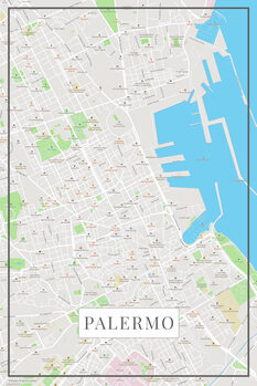 Map of Palermo color
