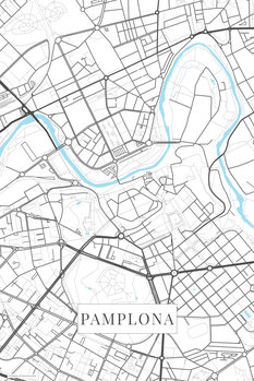 Map of Pamplona white