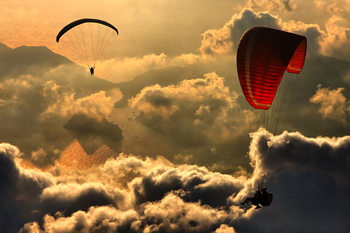 Art Print on Demand Paragliding 2