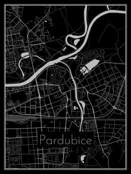 Map of Pardubice