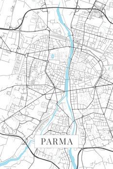 Map Parma white
