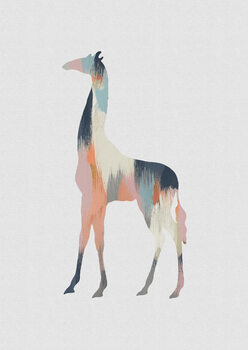 Illustration Pastel Giraffe